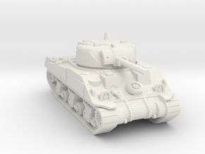 S Scale Sherman Tank in White Natural Versatile Plastic