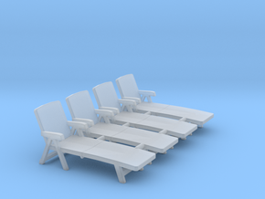 Deck Chair 01. 1:64 Scale (S) in Smooth Fine Detail Plastic