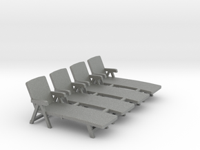 Deck Chair 01. 1:64 Scale (S) in Gray PA12