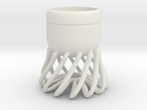 Cup 01 (small) in White Natural Versatile Plastic