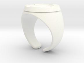 Hercules Open 12 in White Processed Versatile Plastic
