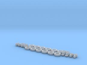 H0 1:87 Reifen 275/80 R22,5 2er Set in Smooth Fine Detail Plastic