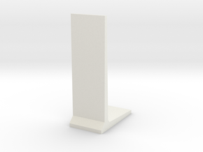 Retaining Concrete Wall 1/48 in White Natural Versatile Plastic