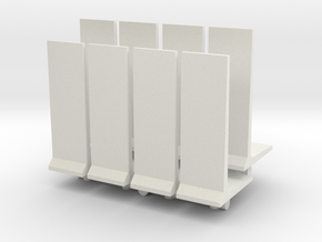 Retaining Concrete Wall (x8) 1/160 in White Natural Versatile Plastic