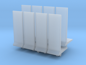 Retaining Concrete Wall (x8) 1/200 in Smooth Fine Detail Plastic