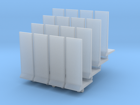 Retaining Concrete Wall (x16) 1/350 in Smooth Fine Detail Plastic