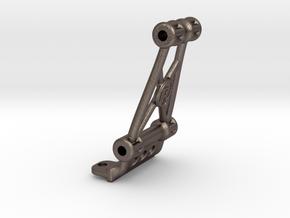 B6.1 / B6.2 / SC6.1 JConcepts Wheelie Bar Bulkhead in Polished Bronzed-Silver Steel