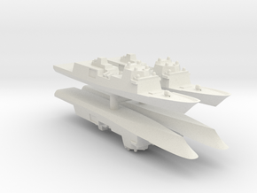 Fincantieri FFG(X) Wargaming x4 in White Natural Versatile Plastic: 1:2400