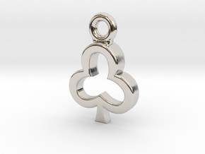 Club Charm / Pendant / Trinket in Platinum