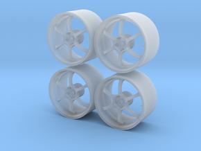 1/24 - 19'' Advan RG-D - model car wheels (female) in Smooth Fine Detail Plastic