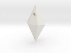 gmtrx lawal irregular hexagonal bipyramid in White Natural Versatile Plastic