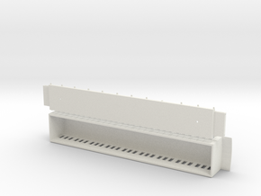 The Swedish Royal railway wagon 1893 – H0-scale in White Natural Versatile Plastic