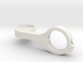 Outfront mount inspired by garmin edge in White Natural Versatile Plastic