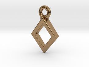 Diamond Charm / Pendant / Trinket in Natural Brass