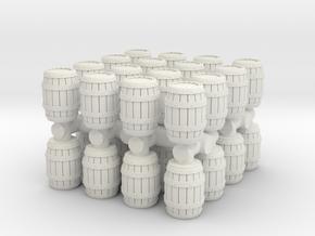 Wooden Barrel (x32) 1/160 in White Natural Versatile Plastic