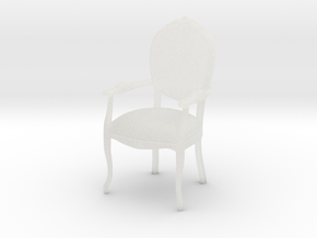 1:10 Scale Model - ArmChair 07 in Smooth Fine Detail Plastic