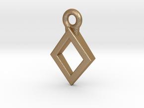 Diamond Charm / Pendant / Trinket in Matte Gold Steel