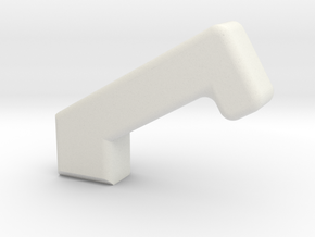 Warthog Throttle Extended Handle in White Natural Versatile Plastic