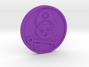 The Hierophant Coin in Purple Processed Versatile Plastic
