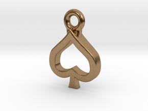 Spade Charm / Pendant / Trinket in Natural Brass