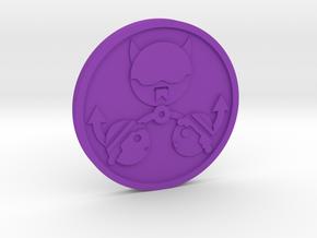 The Devil Coin in Purple Processed Versatile Plastic