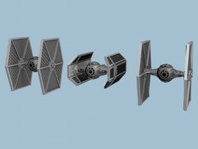 1/350 Tie Fighter Trench Run Three Pack in Smooth Fine Detail Plastic