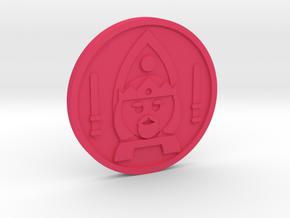 King of Wands Coin in Pink Processed Versatile Plastic
