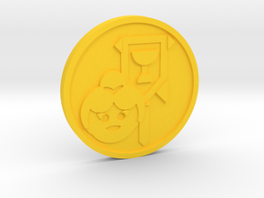 Page of Cup Coin in Yellow Processed Versatile Plastic