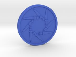 Eight of Swords Coin in Blue Processed Versatile Plastic