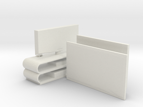 O Scale Flat Screen TVs in White Natural Versatile Plastic