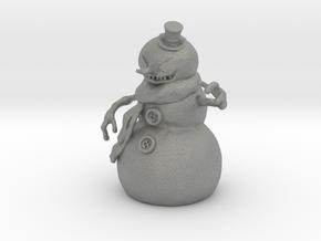 Killer Snowman 1/60 miniature horror games fantasy in Gray PA12