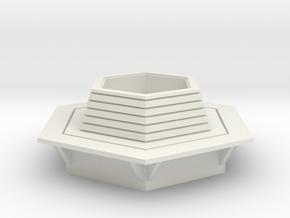 Hexagonal Bench 1/35 in White Natural Versatile Plastic