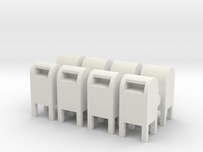 USPS Mailbox (x8) 1/100 in White Natural Versatile Plastic