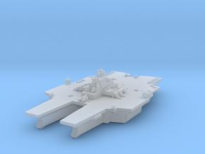 Near future Catamaran Carrier w/twin deck launcher in Smooth Fine Detail Plastic