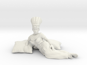 28mm Cleopatra lying down in White Natural Versatile Plastic