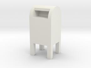 USPS Mailbox 1/24 in White Natural Versatile Plastic
