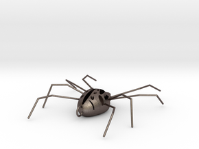 Spider Pendant in Polished Bronzed-Silver Steel