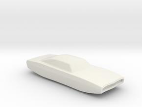 BG Hover car v1 1:160 scale in White Natural Versatile Plastic