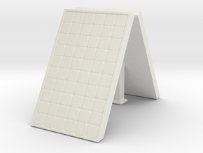 Supported Solar Panel (x2) 1/64 in White Natural Versatile Plastic