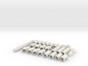Fuel Pipe Set in White Natural Versatile Plastic