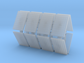 Supported Solar Panel (x16) 1/144 in Smooth Fine Detail Plastic