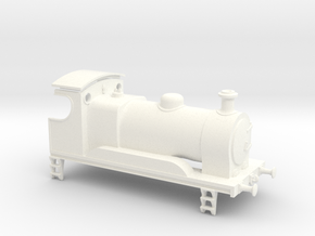 0-4-0 Inside Cylinder Tender Engine in White Processed Versatile Plastic