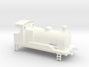 0-4-0 Inside Cylinder Tender Engine in White Processed Versatile Plastic