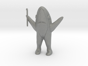 Left Shark Survivor DnD miniature fantasy game rpg in Gray PA12