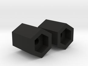 Spurverbreiterungen/Wheel Spacers Axial Yeti jr in Black Natural Versatile Plastic
