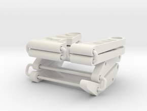 Tamiya 959 front and rear suspension arms in White Natural Versatile Plastic