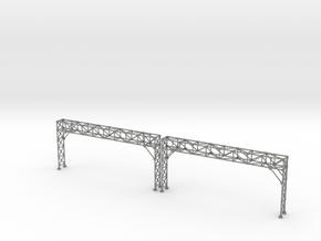 N Scale Signal Bridge Gantry 4 tracks 2pc in Gray PA12
