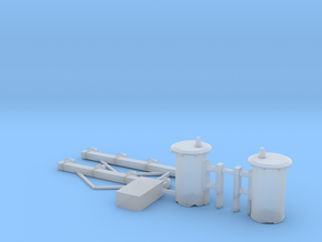 S Scale Telephone Poles Parts in Smooth Fine Detail Plastic