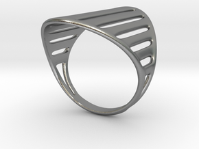 Grid Ring in Natural Silver
