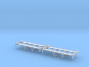 Set of 4  - Spoiler Wing Design 2B in Smoothest Fine Detail Plastic